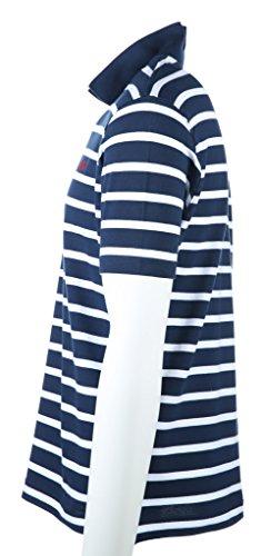 La Martina Herren Poloshirt Striped Stretch P Blau