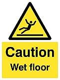 Caledonia Schilder 24223K CAUTION Wet Floor Zeichen, selbstklebendes Vinyl, 400mm x 300mm