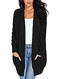 Damen Strickjacke Langarm Casual Cardigan Offene Tops