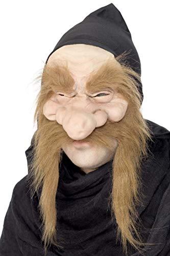 Smiffys Herren Troll Maske, Halb Maske mit Kapuze und Haaren, Gold Digger Maske, One Size, 23817 (Scary Kostüm Herren)