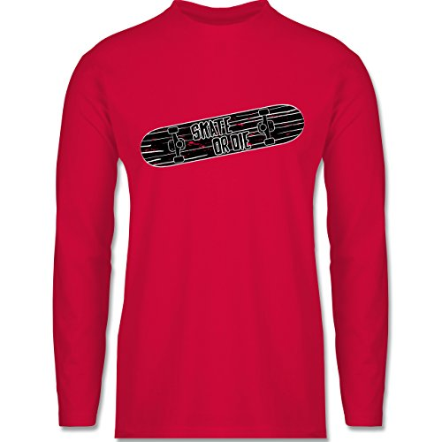 Shirtracer Sonstige Sportarten - Skate or Die - Herren Langarmshirt Rot