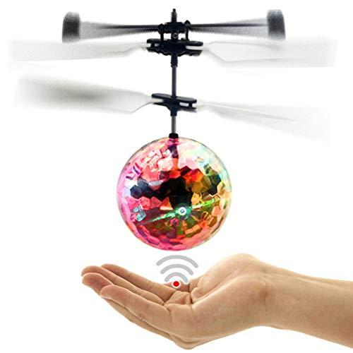 chenqi Fliegende Kugel Blinkt LED leuchtet Bunte Fliegende Infrarot Induktion Hubschrauber Geschenk Spielzeug für Jugendliche