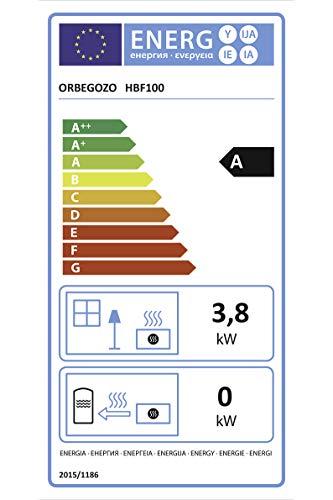 Orbegozo HBF 100 - Estufa de llama azul, 3800 kW, clase energética A, gas butano y propano, triple sistema de seguridad: desconexión automática, analizador atmosférico, encendido piezoeléctrico
