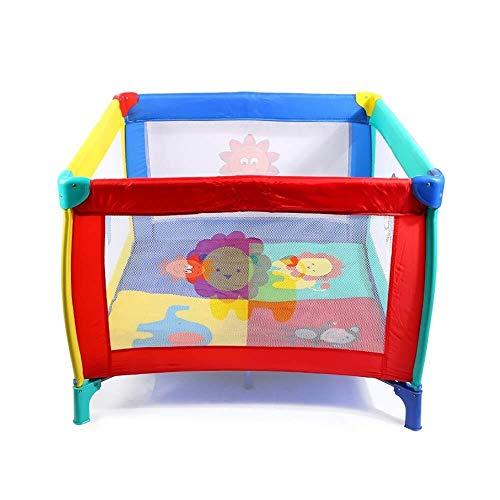 HRSGJK Platz Spielbett Klapp Kinderbett Baby Spielzeug Stift Doppelbett Kinder Bett Trampolin 100 × 75 cm (Farbe: Grau) (Color : Colour)