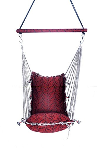 Aashi Enterprise Interior Jumbo Swing & Hammock Washable Folding Free Spring With Bearing To Rotate 360 Degree (Pink)