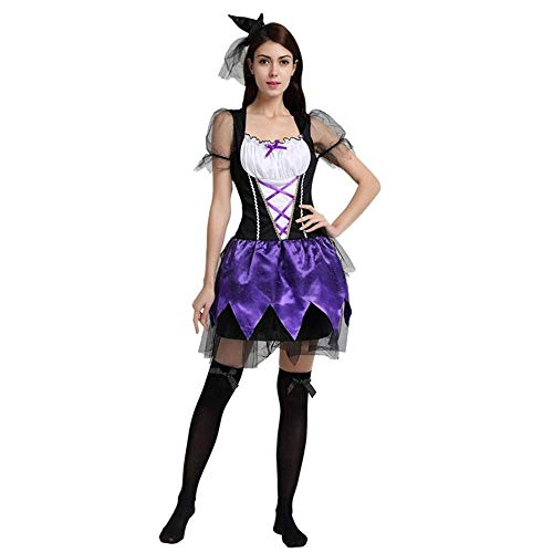 Des Königin Kostüm Clubs Adult - Fashion-Cos1 Sexy Königin Halloween Scary Kostüm Für Frauen Hochwertige Hexe Vampire Adult Kostüm Club Party Wear Kostüme Halloween (Color : Purple)