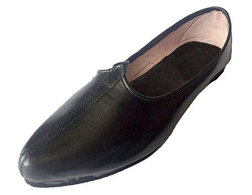 d7a1ad3266620 Step n Style Men's Black Khussa Shoes Punjabi Jutti Ethnic Mojari Handmade  Jalsa Nagra Shoes US 8