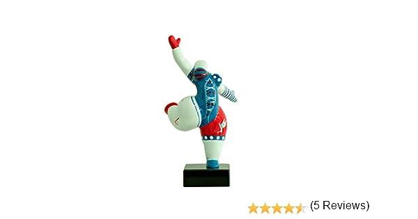 /Oggetto Design Moderno Meubletmoi Statuetta Donna Bianca Statua Ballerina Decorazione Stile Pop Art/