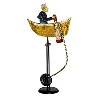 Authentic Models - Balance-Figur, Pendelfigur - Motiv: Salty Dog, Matrose im Boot - Höhe: 54 cm