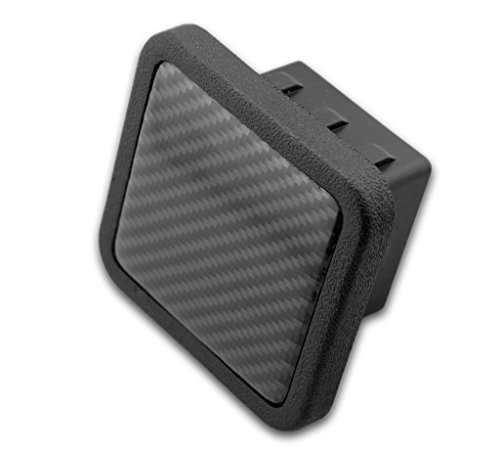 Trailer Hitch Cover Plug Insert (Fits 2 Receivers, Carbon Fiber ) by eVerHITCH - Receiver Cover Hitch