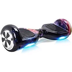 "Windgoo Overboard - Enfant Super Cadeau, 6.5"" Hoverboard Tout Terrain Adulte Balance Board, Pas Cher LED Skateboard, Basic Challenger Gyropode"