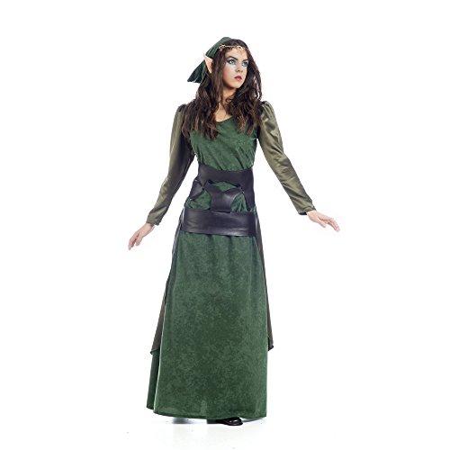 Disfraces de límite nuevo estilo Medieval Fantasy elfo disfraz (pequeño, verde)