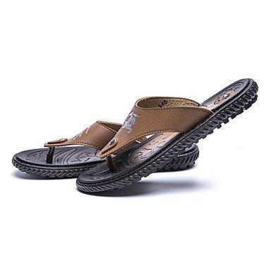 Slippers & amp da uomo;Primavera Estate Autunno Comfort Light Suole PU esterna piana casuale HeelWalkin sandali US9.5 / EU42 / UK8.5 / CN43