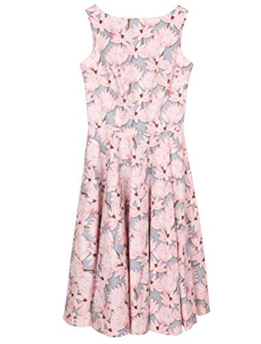 MatchLife Femme Vintage Pin-up robe de Soirée Cocktail Rose