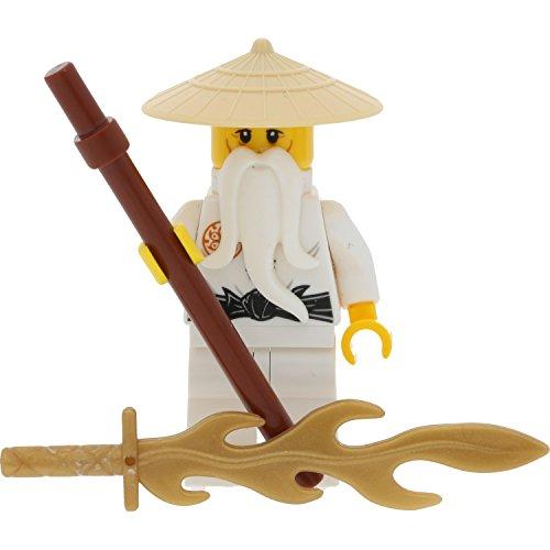 ur Sensei Wu - Tan Hat aus Set 70626 mit Stab und GALAXYARMS Schwert ()