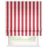 Raffrollo Rot/Weiß gestreift - maßgefertigt