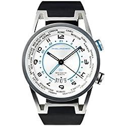 Orologio GMT Piquadro Wwwatch grigio uomo con datario, acciaioinossidabile sabbiato, impermeabile fino a 5 ATM OR1002WW/GR