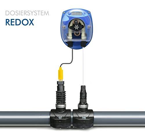 GT SEKO REDOX CHLOR Pool DYNAMIK - Automatische Dosieranlage für Schwimmbäder mit komplettem Zubehör mit 1 x Sauglanze DIN51 x 480 mm für 25 Liter Kanister