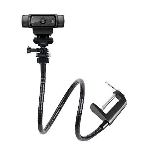 Webcam Halterung, Kamera Klemme Schwanenhals stehen für Logitech Webcam Brio 4 K, c925e, C922 X, C922, C930e, C930, C920, C615-64 cm Länge