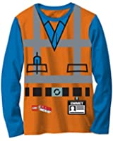 Lego Movie Emmet Orange Boys LONG SLEEVE Costume T-Shirt