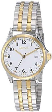 ساعة انالوج بتصميم دائم الاناقة مع مينا ابيض صناعة سويسرية للنساء من ام ووتش WRE.60210.SU