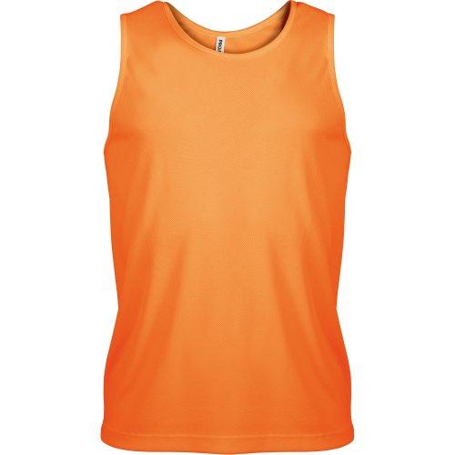 Schwarze Ärmellose Shell (Kariban Proact Herren Sport-Oberteil / Sport-Top, ärmellos (Small) (Orange))