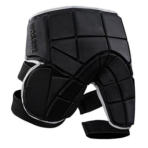 Schwarz Protektorenhose Snowboard Protektoren Unterhose Schutzhose Atmungsaktive Sporthose Gepolsterte Shorts für Skifahren Skaten