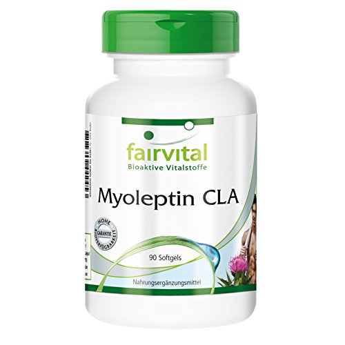 Myoleptin CLA 1000mg konjugierte Linolsäure 90 Softgels - Für Waschbrettbauch und schlanke Hüfte