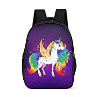 Dofeely Unicorn Pattern School Rucksack Large Capacity Backpack Unisex Gym Bag for Hiking Outdoor 32 cm x 18 cm x 42 cm