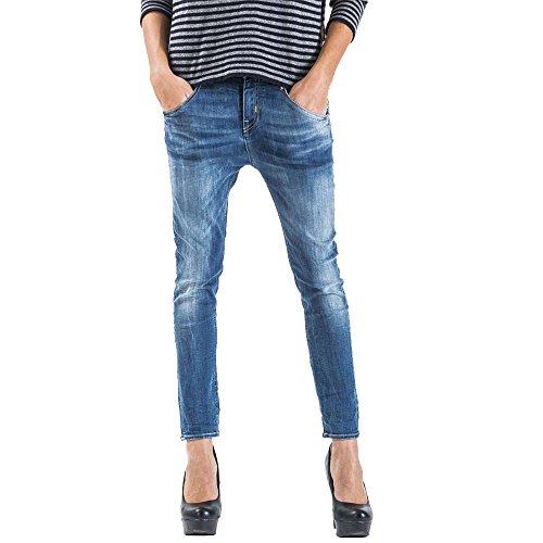 Meltin'Pot - Jeans LEIA D1669-UK300 für frau, mit tiefem schritt , loose fit, niedriger bund - DENIM BLUE - 25 - Länge: 32 (Größe DE 33 - INT. XS)