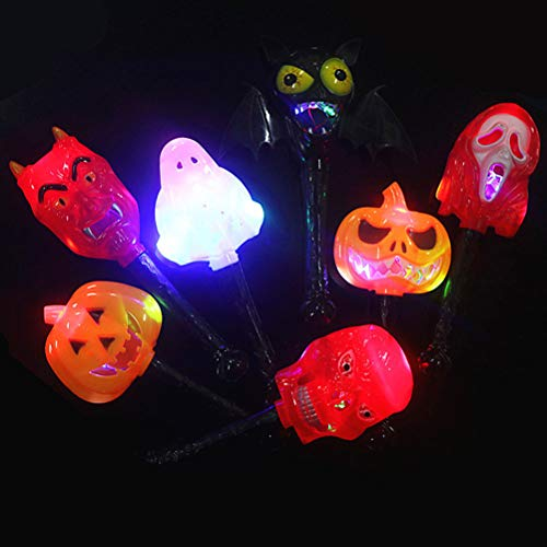 BESTOYARD Devil Flashing Stick Zauberstab Leuchtende Kürbis Hand Stick Prop für Halloween Party Bar Karneval