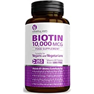 Biotin 365 High Potency Hair Growth Vegan Tablets 10,000mcg 1 Year Supply