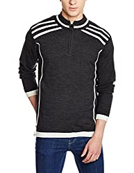 Flying Machine Mens Synthetic Sweater (8907259130651_FMSW4224_Small_Black)