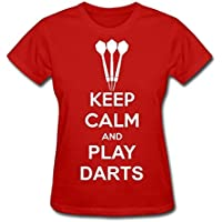 Donna's Tshirt Keep Calm And Play Darts Red XXXXL