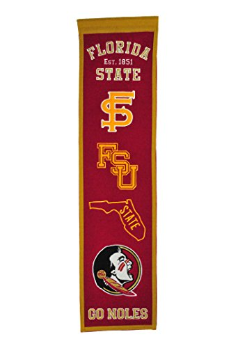 NCAA College Banner/Wimpel/Pennant FLORIDA STATE FSU SEMINOLES Heritage Wool Blend