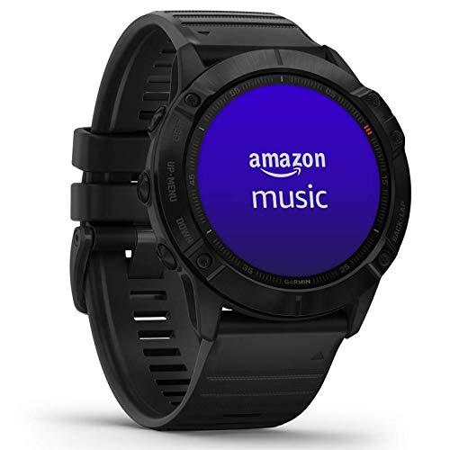 Garmin fenix 6X Pro GPS-Multisport-Smartwatch mit Herzfrequenzmessung am Handgelenk, lange Akkulaufzeit, großes Display, wasserdicht, kontaktloses Bezahlen, Musikplayer, vorinstallierte Karten, WLAN