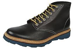 Clarks Mens Frelan Rise Black Boots - 10 UK