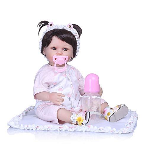 03103ded9d3f5 40cm Reborn Baby Doll Bébé Reborn En Silicone Lavable Poupée Réaliste