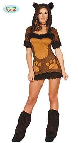 sexy Bären Kostüm für Damen mit Beinwärmern Stulpen Karneval Motto