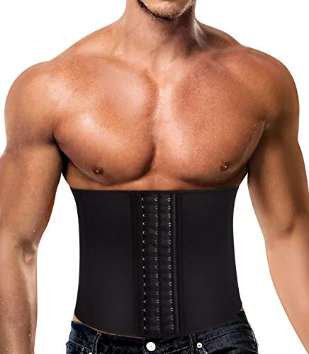 Chumian Jungen Fitness Waist Trainer Korsett für Body Sport Abnehmen figurformend Shapewear Workout Trimmer Sportbekleidung (Black, XL(Fit 36.2-38.5 Inch Waist))