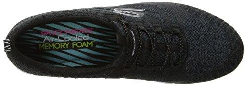 Skechers Femme Gratis-Blissfully Chaussure Décontractée Black/White Knit