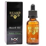 BeonJFx Feuchtigkeitsspendendes Bartöl für Schnurrbart, Wachstumssteigerung, Gesichtshaarpflege, 30 ml