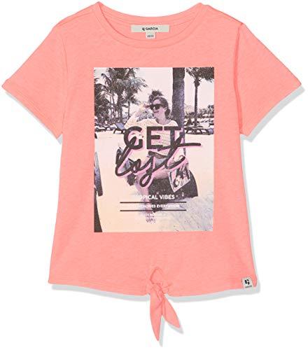 Rosa Mädchen T-shirt (Garcia Kids Mädchen D92602 T-Shirt, Rosa (Shocking Pink 2466), 140 (Herstellergröße: 140/146))