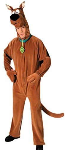 erdbeerloft - Herren Kostüm Scooby Doo mit Jumpsuit und Kopfteil, M, (Kostüm Shaggy Scooby Doo)