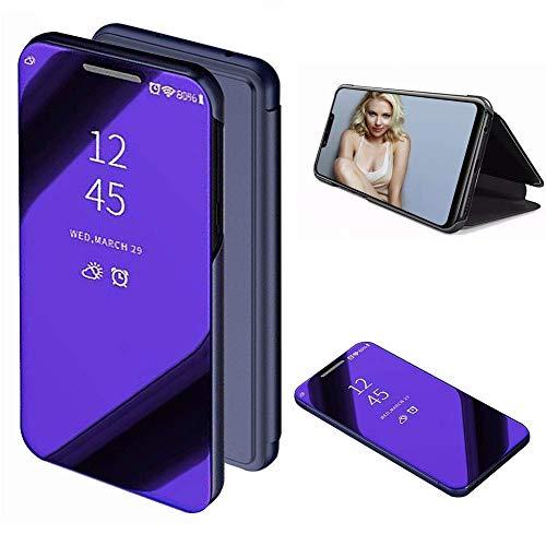 Momoxi Phone Accessory Huawei Handyhülle Handy-Zubehör Spiegelüberzug Sleep Wake Flip Ledertasche für Huawei Mate 20 Lite 6,3 Zoll lite hülle