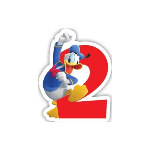 Playful Mickey-Birthday Numeral Candle No2 , Mickey Mouse Clubhouse , Mickey Mouse Theme Birthday Party , Kids Party Supplies , Mickey Mouse And Friends