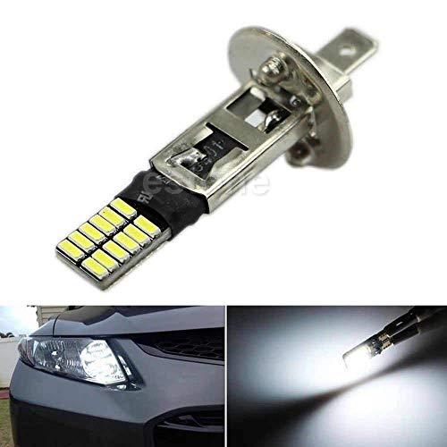 Fligatto 6500k Cach Au Xnon Blanc H1 24 SMD LED Remplacement des Lumires Ampoules De Brouillard DRL