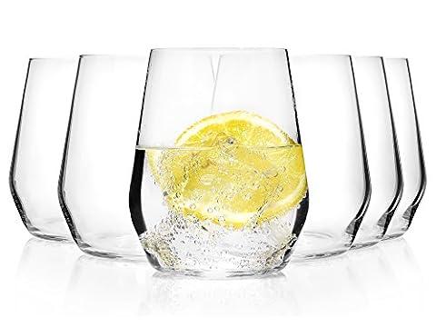 Bormioli Wasserglas Set 'Electra' 6 teilig | Gastronomiequalität | Füllmenge Trinkglas 38 cl | Höhe 10 cm | Perfekte Brillianz dank Star Glass
