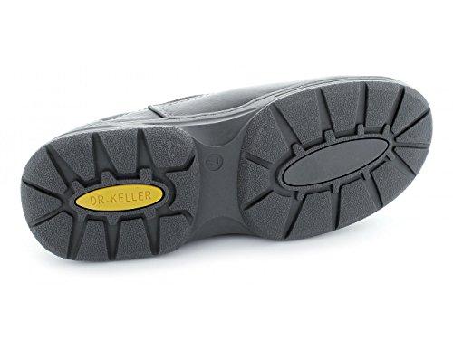 Dr Keller HOWARD Wide Fit Shoes-Mocassini da uomo in pelle, colore: grigio Grigio (grigio)