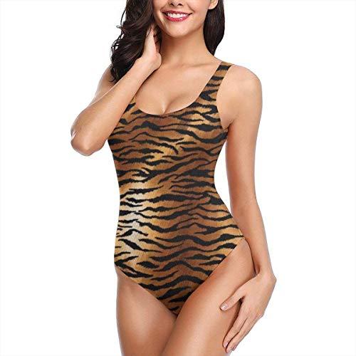 Einteiliger Bikini-Badeanzug für Damen Snake Animal Skin Pattern Swim Halter Bathing Suit Tummy Control Beach Swimwear